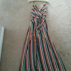 784d85332f Le Lis Pants - Le Lis striped wideleg jumpsuit